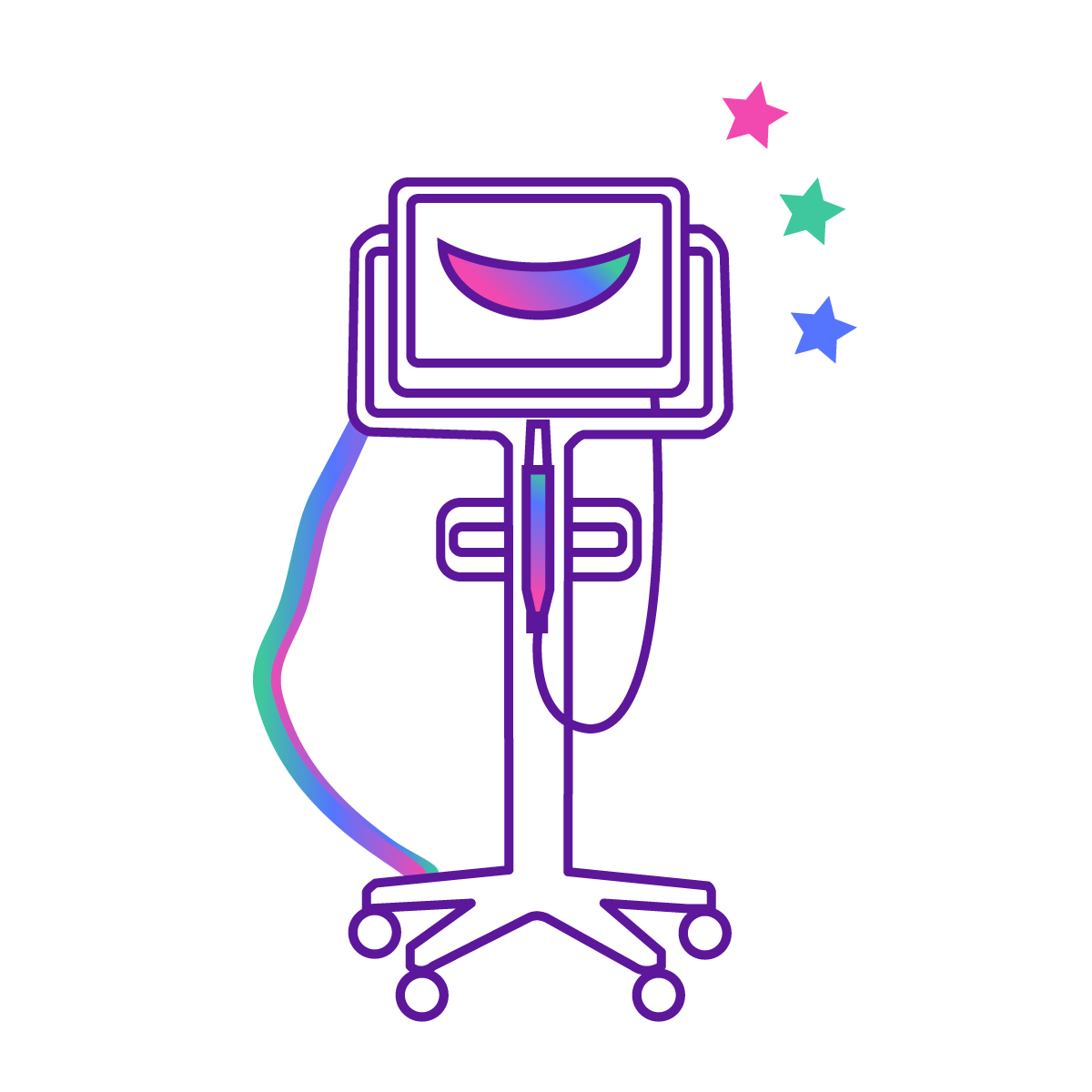 Medical stand icon